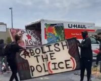 Anatomy of an organized riot: U-Haul van delivers riot supplies to Louisville BLM march