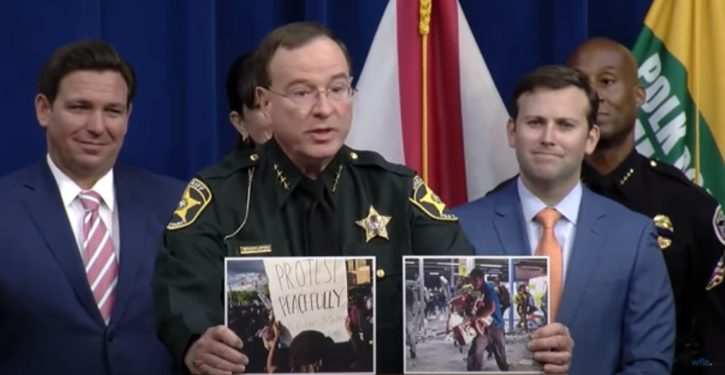 Florida sheriff lays down the law; clarifies difference between 'protest' and 'riot'