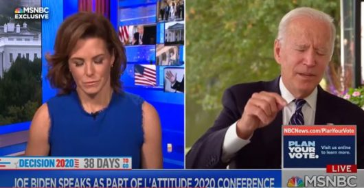 MSNBC host has to help Biden remember what he's talking about by Ben Bowles