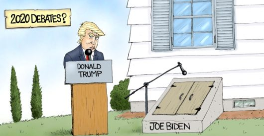 Cartoon of the Day: Trump vs. Hiden by A. F. Branco