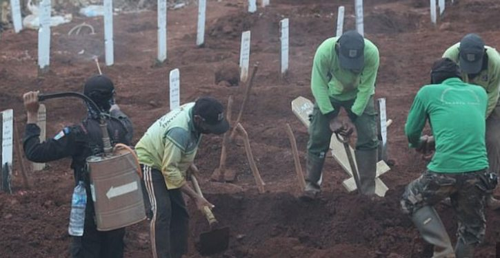 People who won't wear masks in Java forced to dig graves of COVID victims