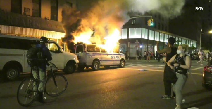 Rioters cause $100,000 in damage during overnight protests in NYC, police say