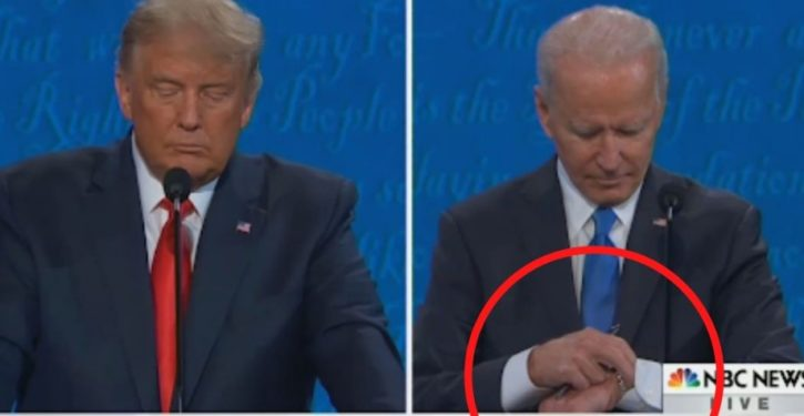 Will Joe Biden's checking his watch during debate come back to bite him?