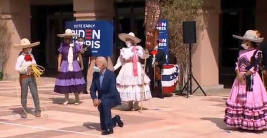 Biden bizarrely kneels during Hispanic campaign event in Arizona by LU Staff