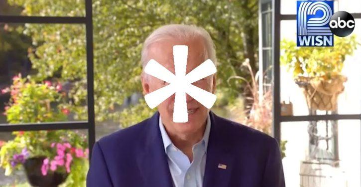 Our choice is Joe Biden (with an asterisk)