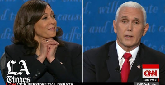 One unanswered question from last night's VP debate that deserved an answer by LU Staff