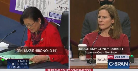 Sen. Maize Hirono to Judge Barrett: Have you ever raped anyone? by LU Staff