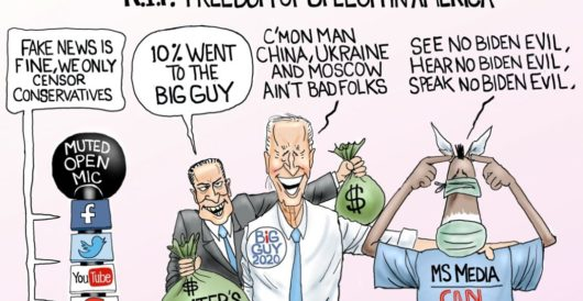 Cartoon of the Day: Freedom of speech, we hardly knew ye by A. F. Branco