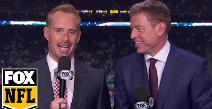 Sportscasters Joe Buck, Troy Aikman caught on hot mic mocking NFL military pregame flyover