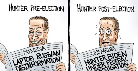 Cartoon of the Day: There's Hunter! by A. F. Branco