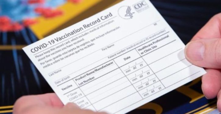 Dept. of Defense previews COVID vaccination cards to be issued