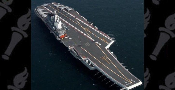 Chinese aircraft carrier followed U.S. warship transit through Strait of Taiwan
