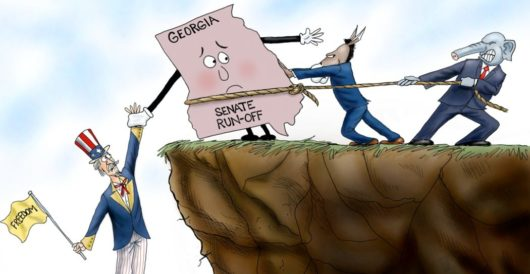 Cartoon of the Day: Hanging in the balance by A. F. Branco
