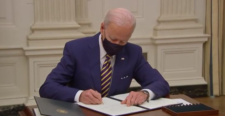 Ease up on the executive actions, Joe