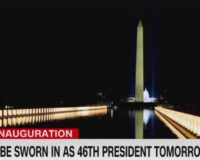 CNN: Lights along reflecting pool like 'extensions of Joe Biden's arms embracing America'