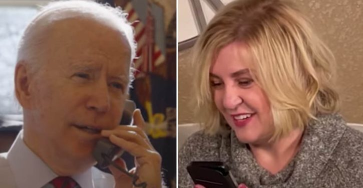 Biden records phone call, with woman who lost her job, as weekly POTUS address