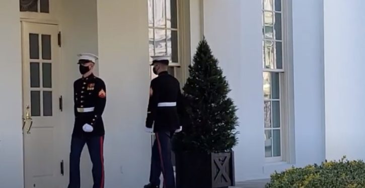 Marine sentry missing when POTUS said to be in Oval Office; non-answer from W.H. spox
