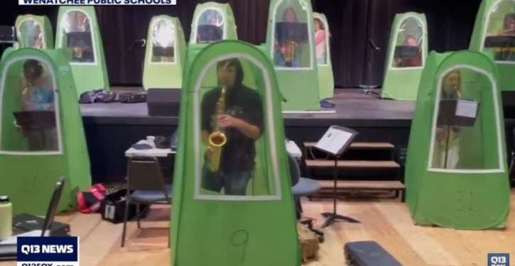 Confirmed: Wenatchee H.S. band students are playing inside COVID pods