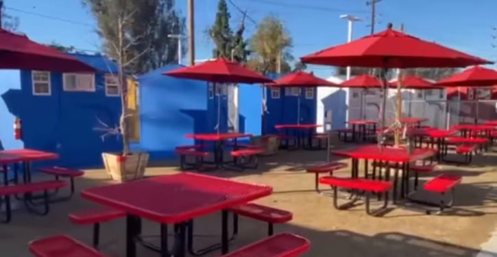 Los Angeles debuts first tiny homes community to house homeless