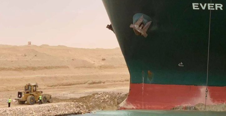 Fighting words: Ship blocking Suez Canal could cause shortage of toilet paper