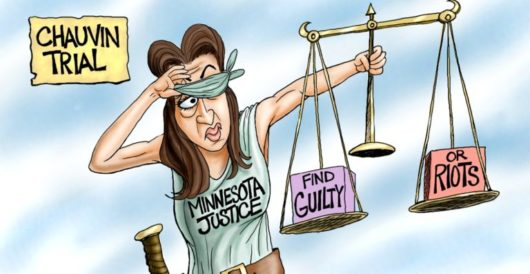 Cartoon of the Day: Justice is (half) blind by A. F. Branco