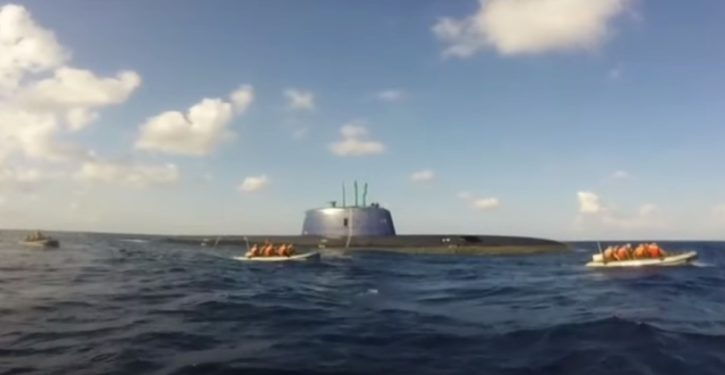 Engaged at Warp Factor One: When submarines don't mind being seen