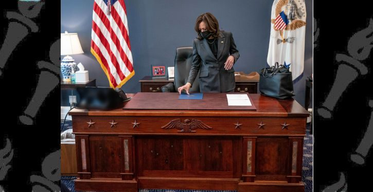 Kamala Harris gets 'Resolute' desk built with materials from USS Constitution, Arizona