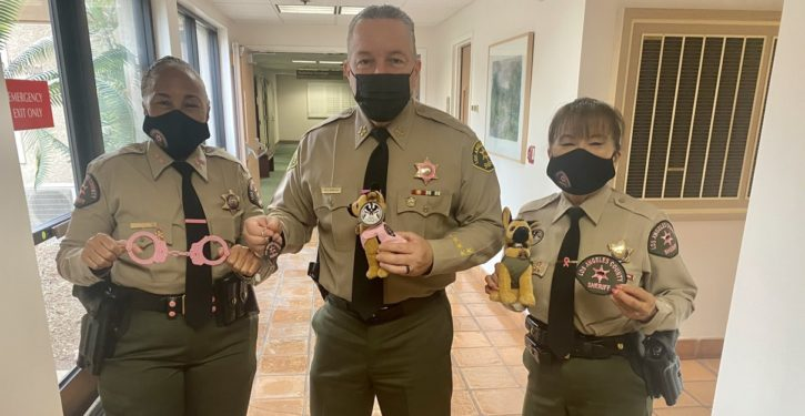 L.A. County Sheriff encourages mammograms by using pink handcuffs