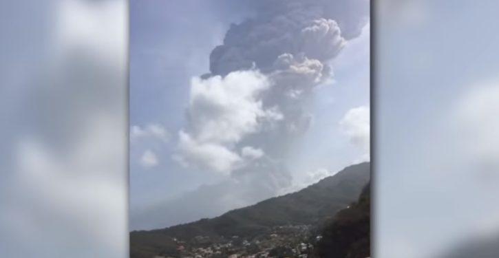 Caribbean island of St. Vincent sees major volcanic eruption; last similar one in 1979