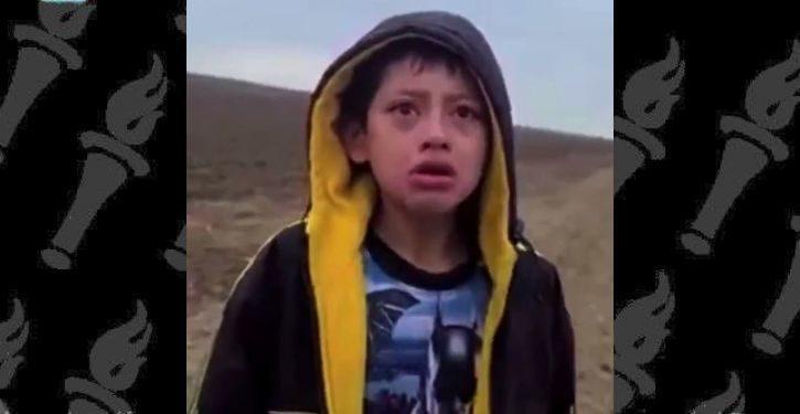 Heartbreaking video of sobbing migrant child seeking help from Border Patrol