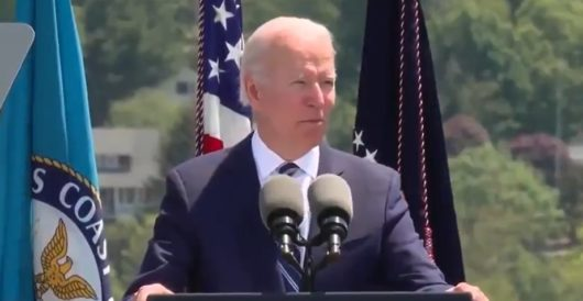 Biden tells same joke Reagan told to cadets to rousing cheers in 1988. Biden gets crickets by Howard Portnoy
