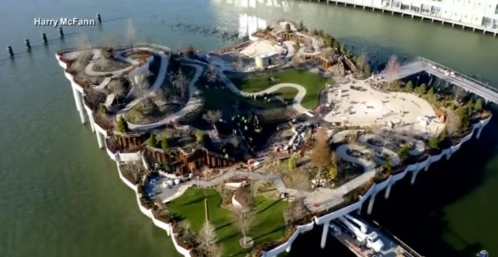 'Floating park' debuts in New York