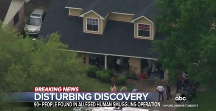 'Possible' human smuggling: More than 90 people found in Houston home