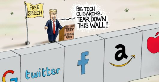 Cartoon of the Day: Wall of silencing by A. F. Branco