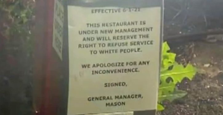 Sign at MO Popeyes reads 'we reserve right to refuse service to white people'