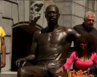 Happy Juneteenth! Statues of George Floyd are unveiled