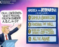 Cartoon bonus: I'll take 'Destroying America' for 200, Donald