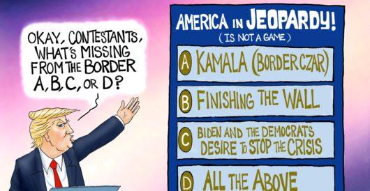 Cartoon bonus: I'll take 'Destroying America' for 200, Donald by A. F. Branco