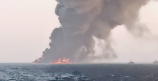 Iran's fleet oiler, Kharg, sinks under mysterious circumstances after catching fire in Gulf of Oman by J.E. Dyer