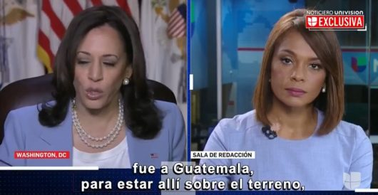 Kamala Harris gets testy with Univision reporter for asking when she will go to the border by Howard Portnoy