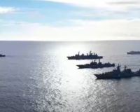 Russian naval task force off Hawaii simulates attacking an aircraft carrier