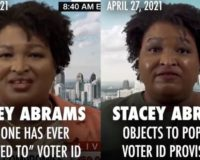 VIDEO: Stacey Abrams, Raphael Warnock flipflop on voter ID