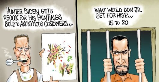 Cartoon of the Day: Double standards by A. F. Branco