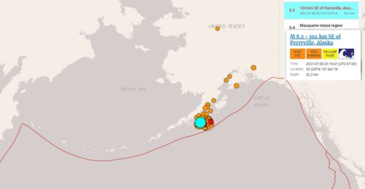 Mag 8.2 earthquake off Alaska's southern coast biggest to hit U.S. in over 50 years by LU Staff