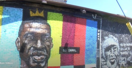Toledo: Local news reports say collapsed mural of George Floyd was struck by lightning by J.E. Dyer