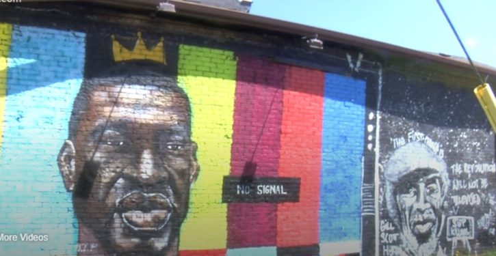 Toledo: Local news reports say collapsed mural of George Floyd was struck by lightning