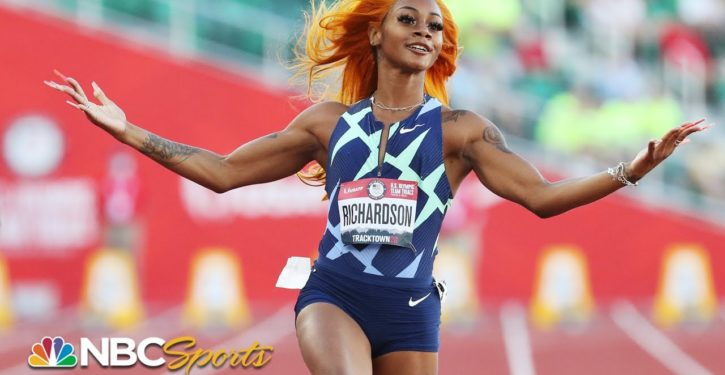 American sprinter barred from Olympics after testing positive to marijuana