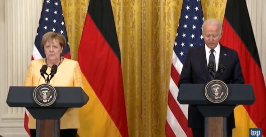 Biden introduces Angela Merkel as Germany's 'second largest' chancellor by Ben Bowles