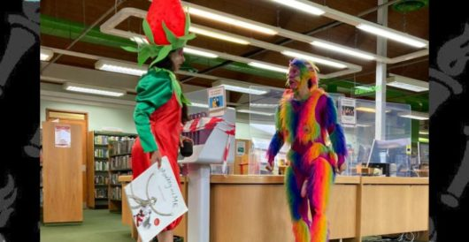 Latest 'adult' entertainment for kiddies at the library? Meet Rainbow Dildo Butt Monkey by LU Staff