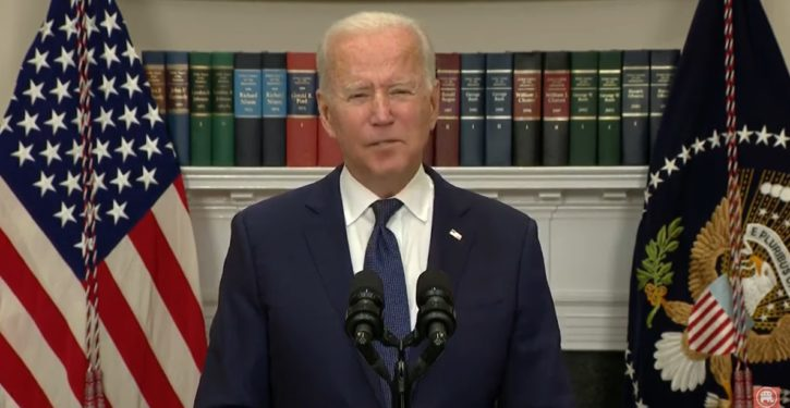 In same presser where Biden says withdrawal was orderly, he says chaos was inevitable